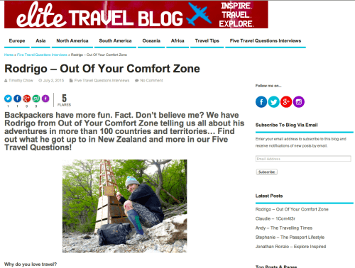 Interview Elite Travel Blog