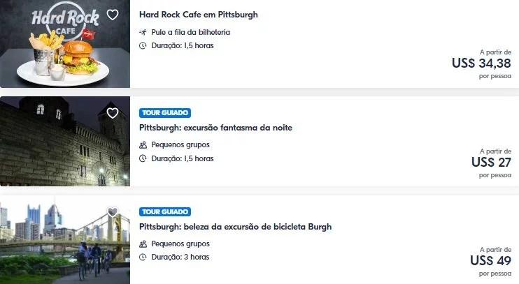 Melhores atrações Pittsburgh