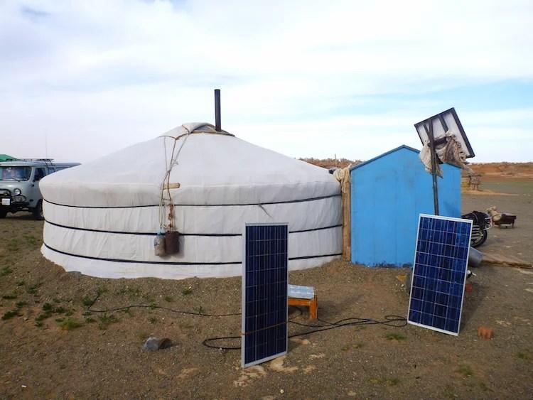 painel solar com nômade