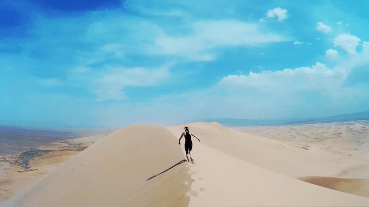 Mongolia Gobi Desert walk climb sand dunes