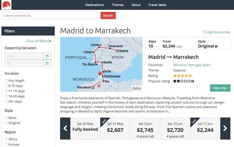 Pacote Espanha e Marrocos
