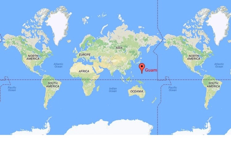 Guam location map