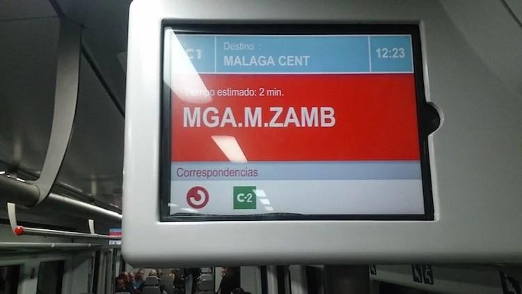 Para de trem do terminal de onibus de malaga