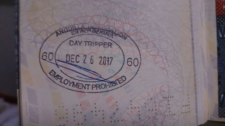 Carimbo passaporte Anguilla