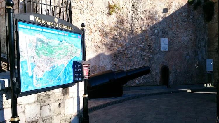 Gibraltar mapa canhão