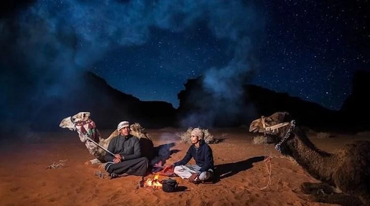 Acampamento noturno Wadi Rum
