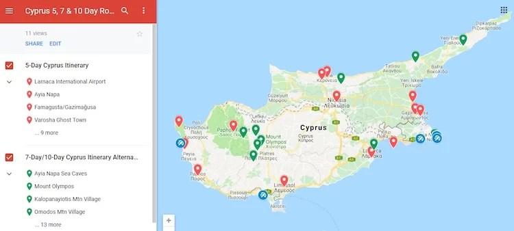 Atrações no Chipre