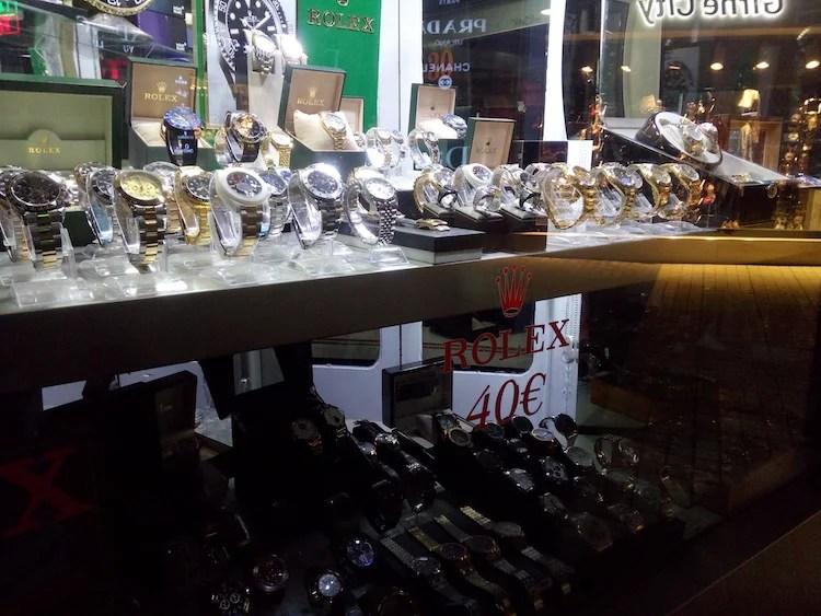 Rolex falsificado