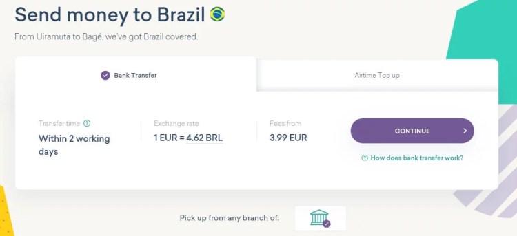 world remit to brasil