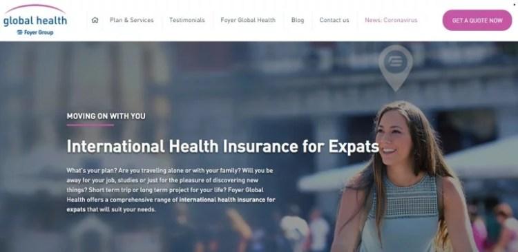 seguro internacional foyer global health