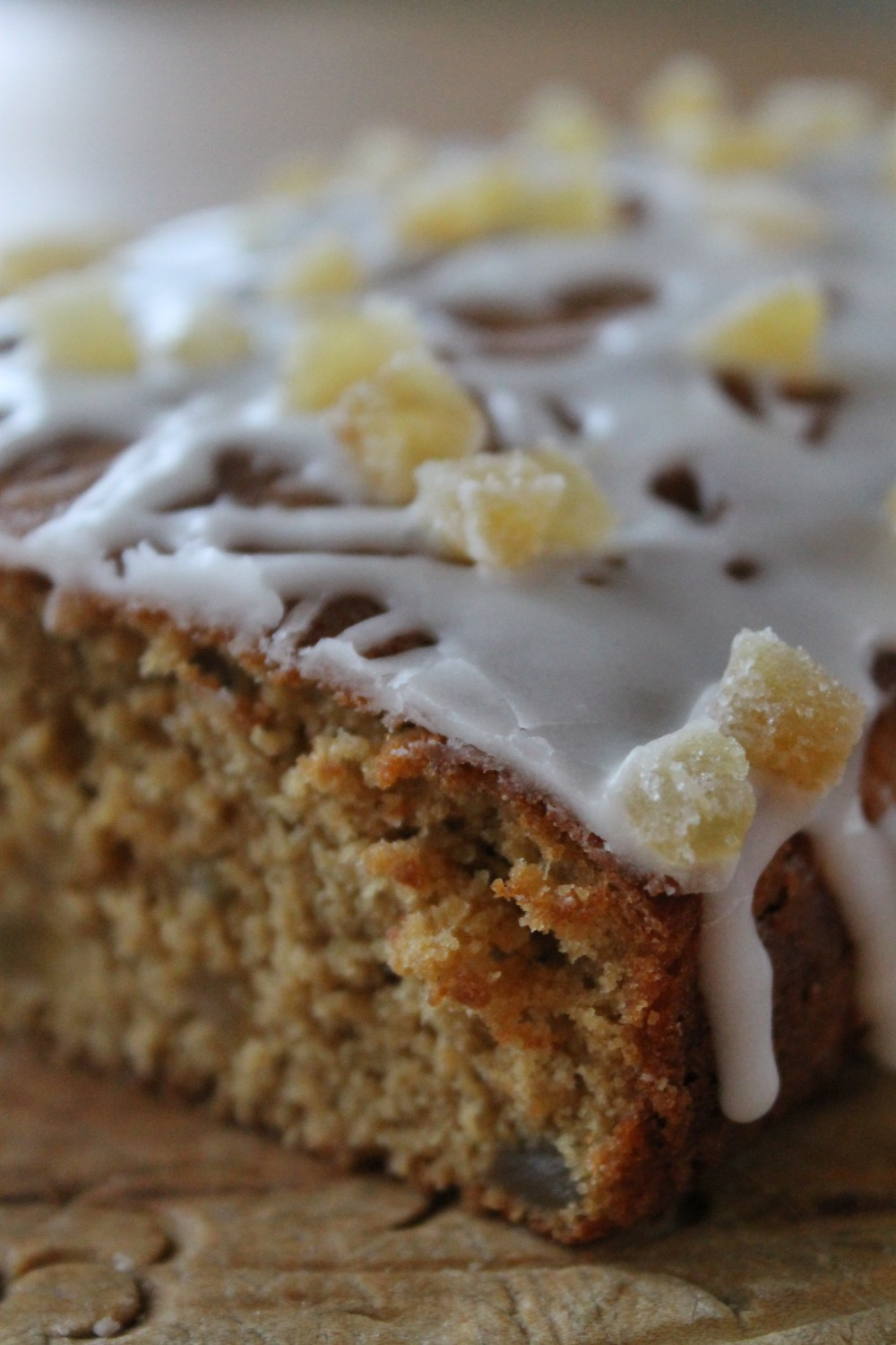 Triple Ginger Cake with Lime Icing