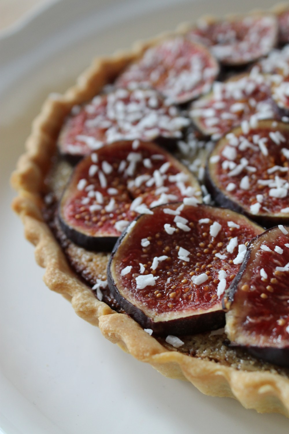 Fig, Coconut and Chocolate Tart