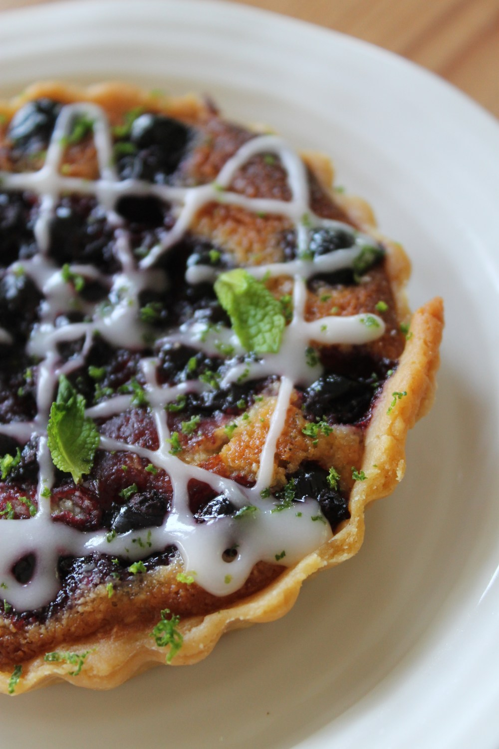Almond Blackcurrant Tarts with Salted Lime