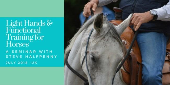 Steve Halfpenny functional horse training seminar UK