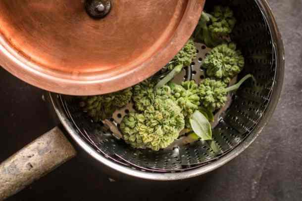 Steamed wild Milkweed Buds