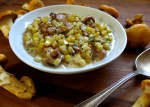 creamed wild chanterelle mushrooms with sweet corn and chervil