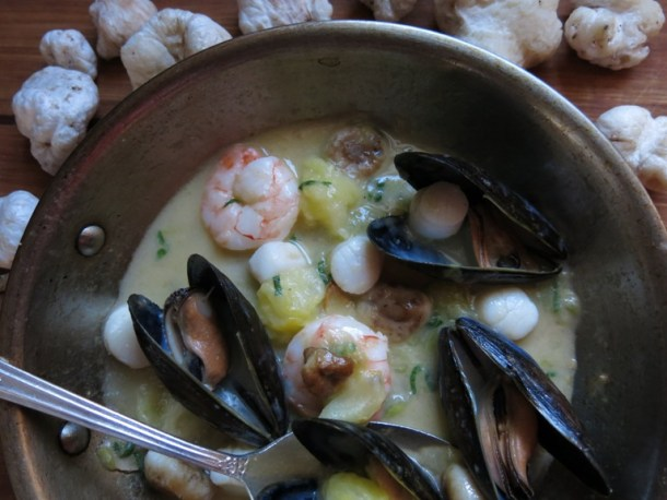 entoloma mushroom and shellfish recipe