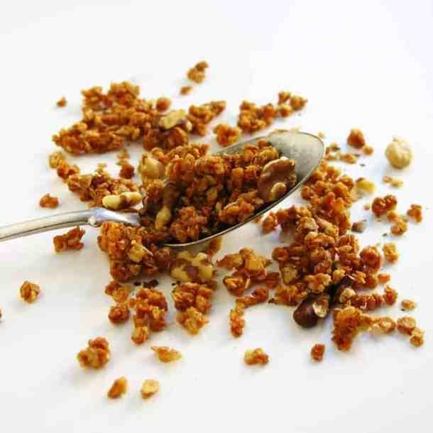 black walnut crumble/granola