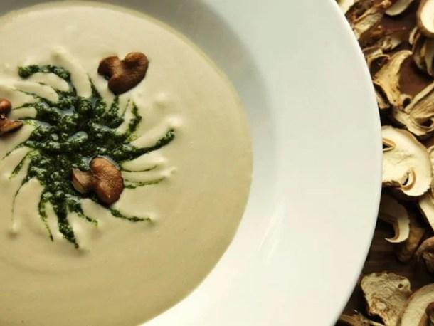 cream of boletus rex veris soup