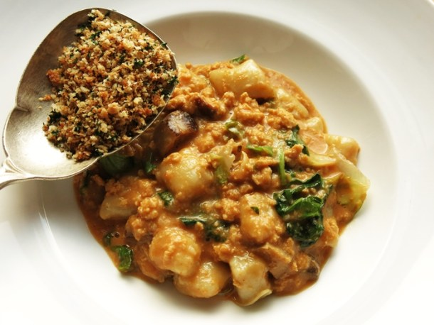 northern pike and porcini ragu with gnocchi