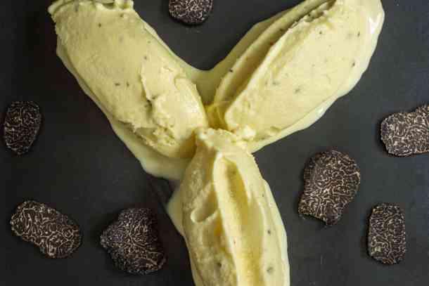 jean louis palladin's black truffle ice cream