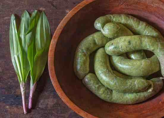 Green ramp leaf sausage