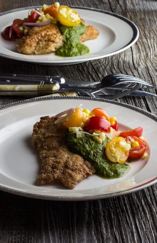 catfish, bergamot recipe, heirloom tomato corn salad recipe,