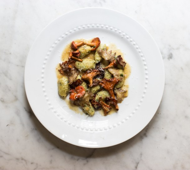 Herb gnocchi with red chanterelles and cockscombs-4