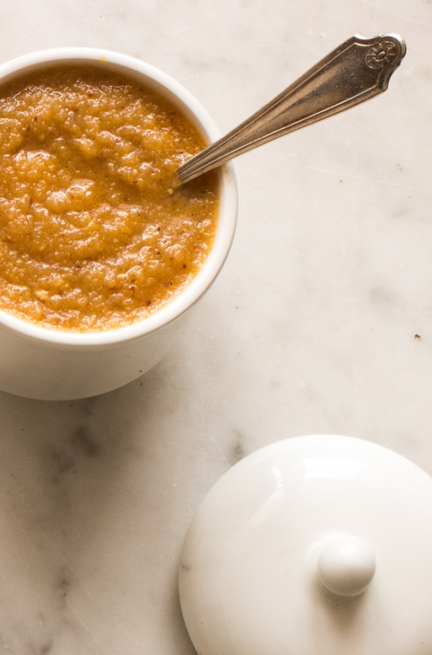 Apple mustard sauce