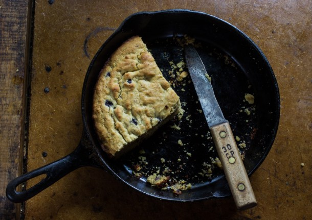 Wild Blueberry-Bacon Fat Cake