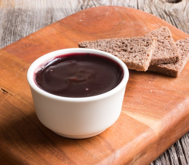 Crab Apple-Duck Liver Mousse with Elderberry Jelly