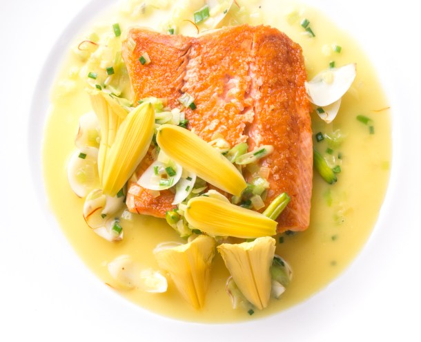 Salmon With Six Lilies and Saffron