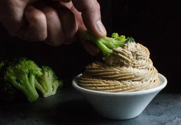 A recipe for puffball mushroom hummus
