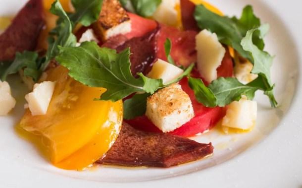 Beefsteak Mushroom and Heirloom Tomato Salad