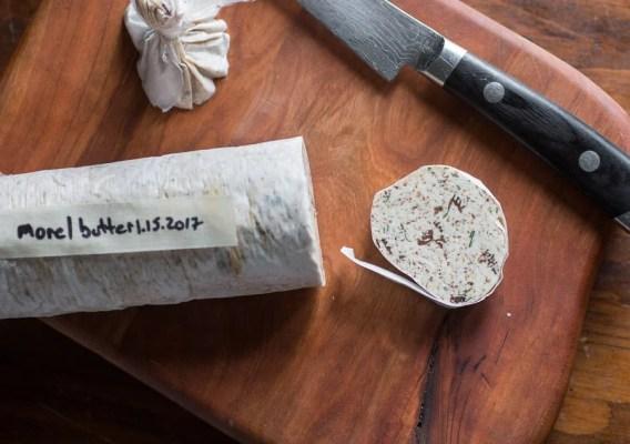 Dried morel mushroom butter