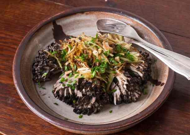 Maitake mushroom roast with frizzled leeks (13)
