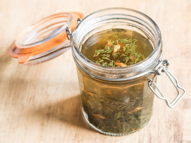 A recipe for homemade aquavit with wild caraway