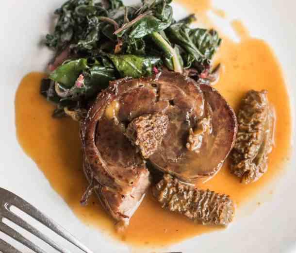 Venison neck roast with morel sauce recipe