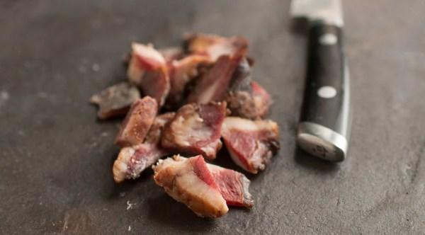 Maple sugar venison bacon