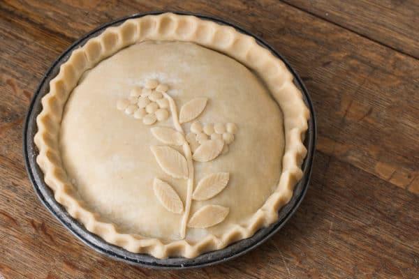 Wild blueberry pie with maple sugar recipe