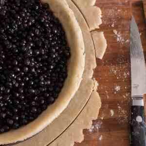 Maple Sugar Wild Blueberry Pie