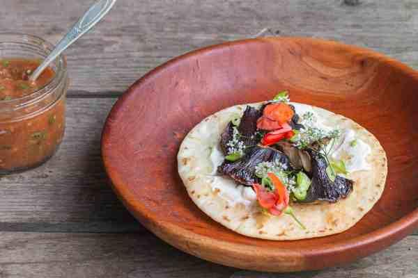 Pig Ear Mushroom or Gomphus Tacos