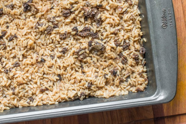Pre-cooked dried wild mushroom risotto
