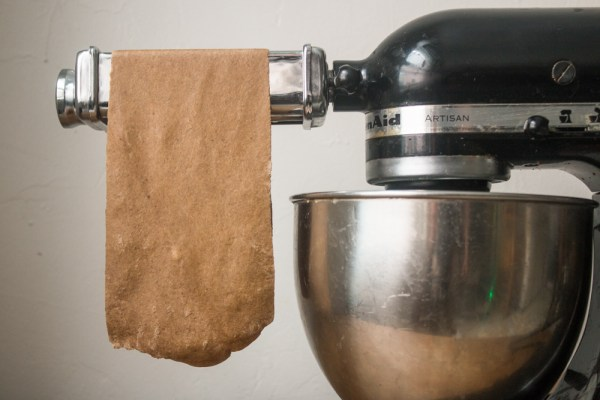 Dried bolete mushroom pasta dough