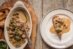 Cibreo recipe, a stew of chicken livers with cream and unlaid eggs