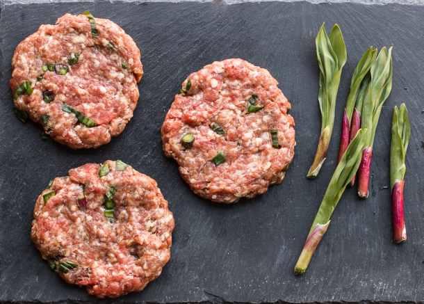 Ramp leaf burgers recipe