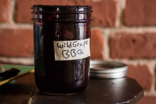 Wild grape, elderberry or aronia barbecue sauce recipe
