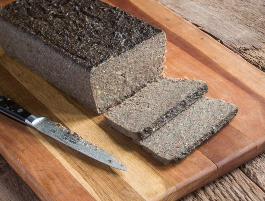 Scrapple made with liver, buckwheat, cornmeal and spices recipe