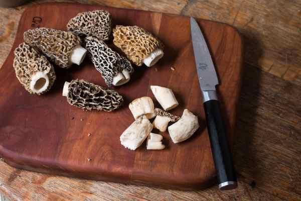 Stuffing morels with dried morel mushroom sauce