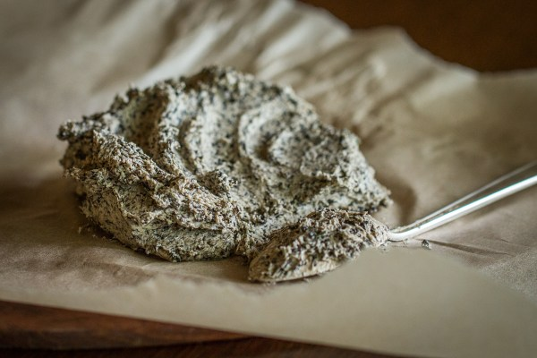 Dried black trumpet mushroom and ramp leaf butter recipe